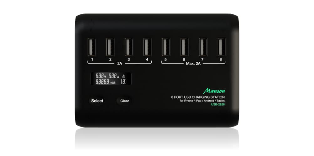 Manson USB Charge Station for iOS and Android Based Tablets and Smartphone